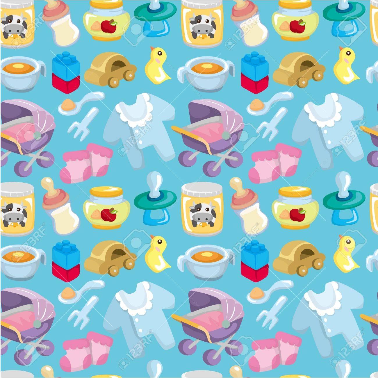 cartoon baby good seamless pattern Stock Vector - 9477464