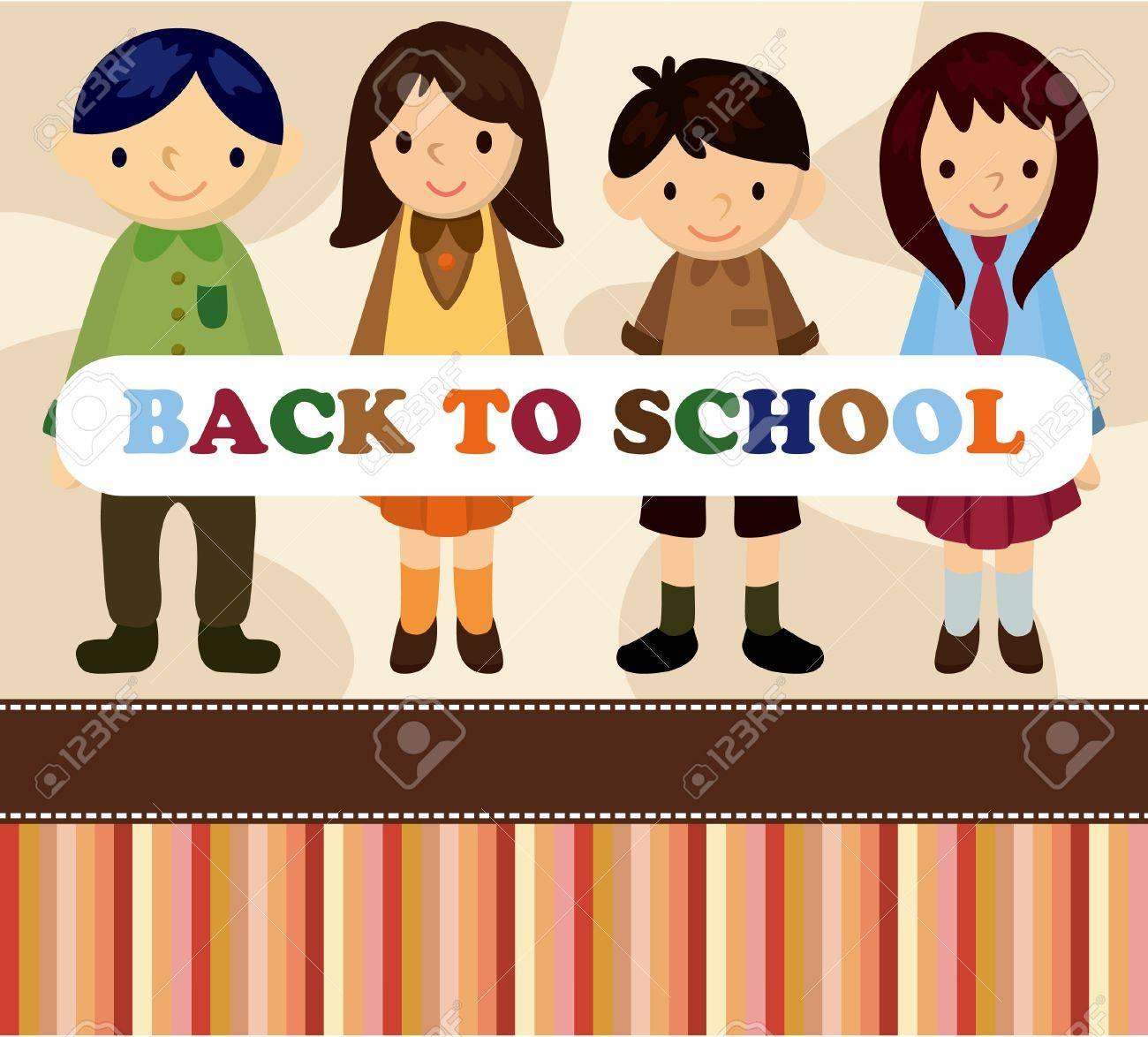 cartoon student card/back to school Stock Vector - 9525756