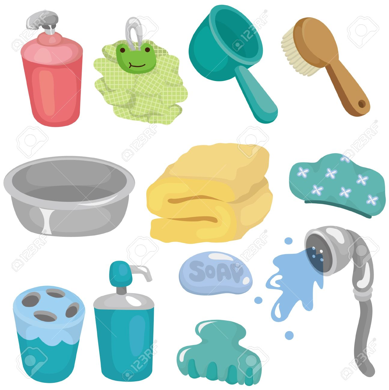 Bathroom Equipment Stock Illustrations Cliparts And