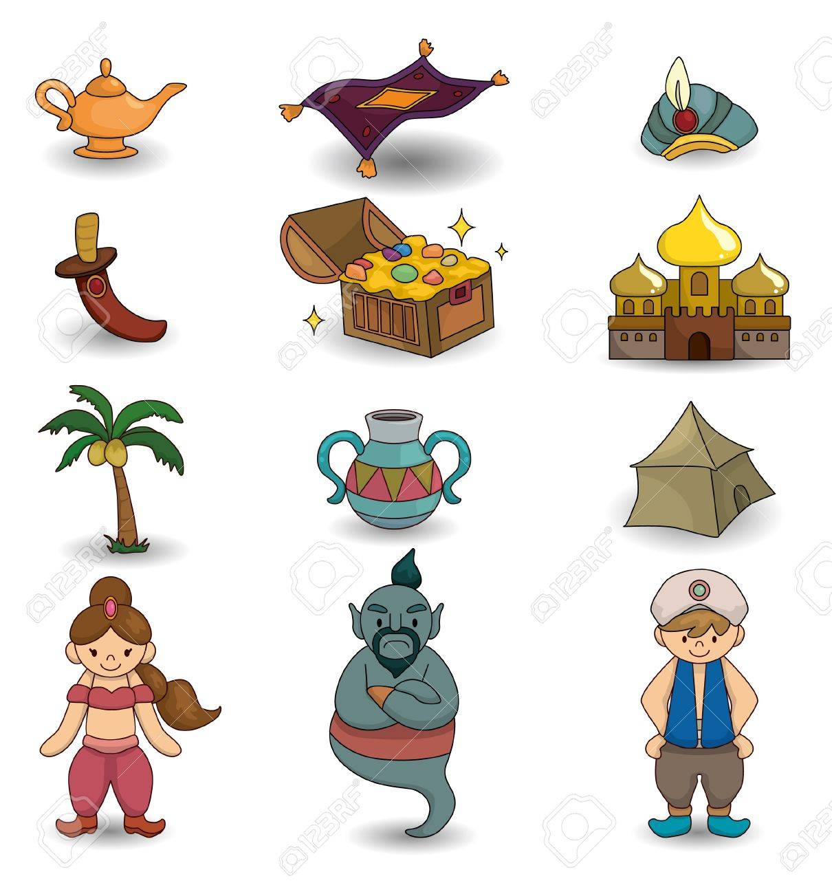 cartoon Lamp of Aladdin icon Stock Vector - 9673816