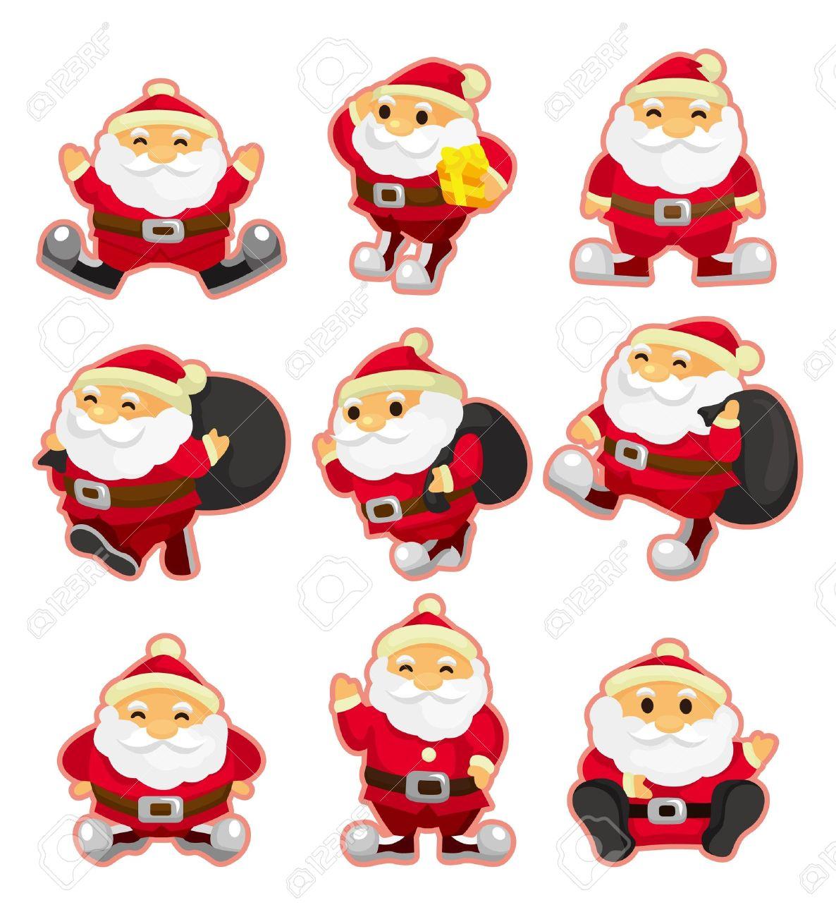 cartoon santa claus Christmas  icon set Stock Vector - 9829663