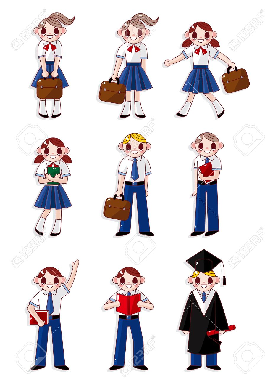 cartoon student icon Stock Vector - 9829703