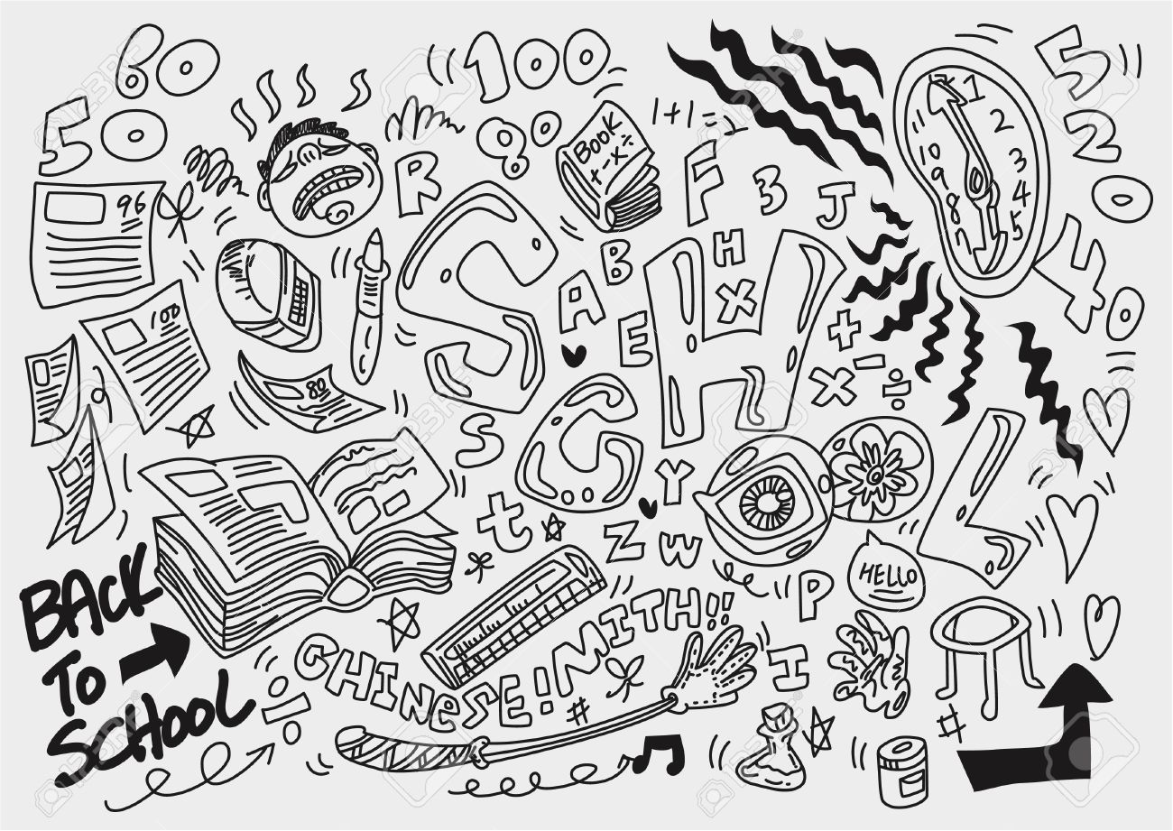 Doodle School Royalty Free Cliparts Vectors And Stock Illustration