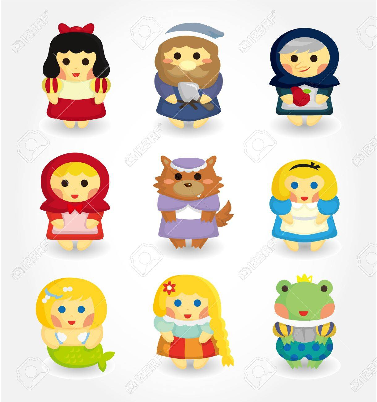 cartoon story people icon set Stock Vector - 9935333
