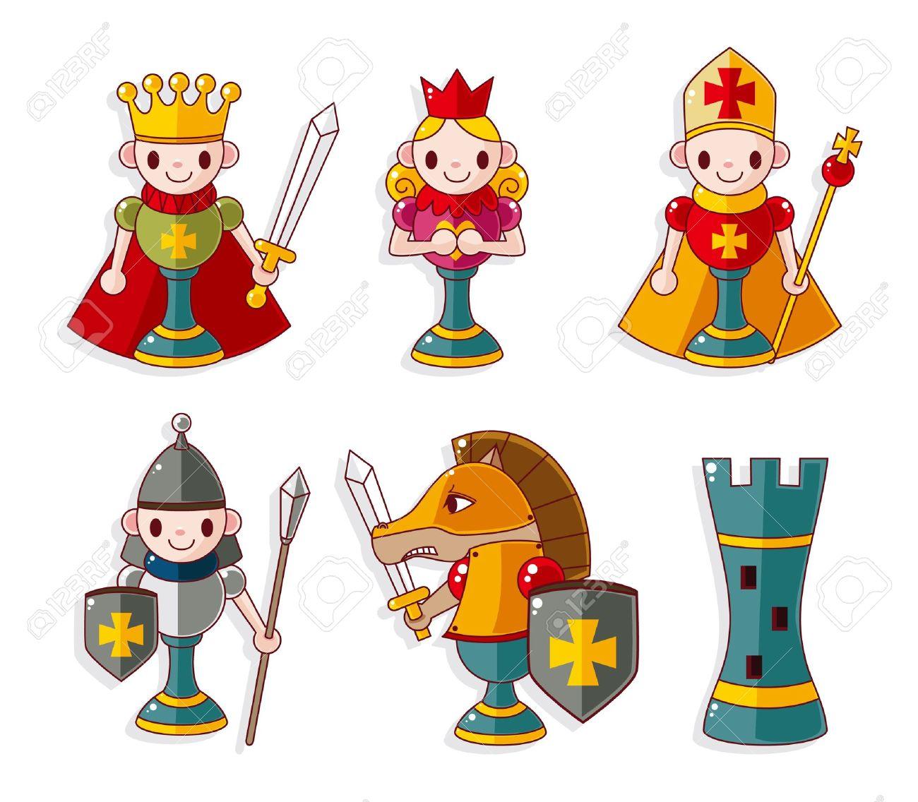 cartoon chess isolated Stock Vector - 10012244