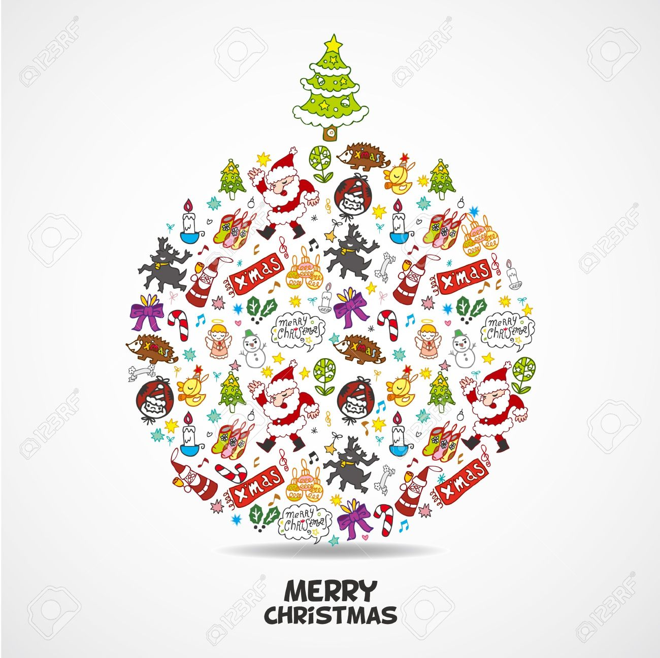 cute christmas card Stock Vector - 10046860