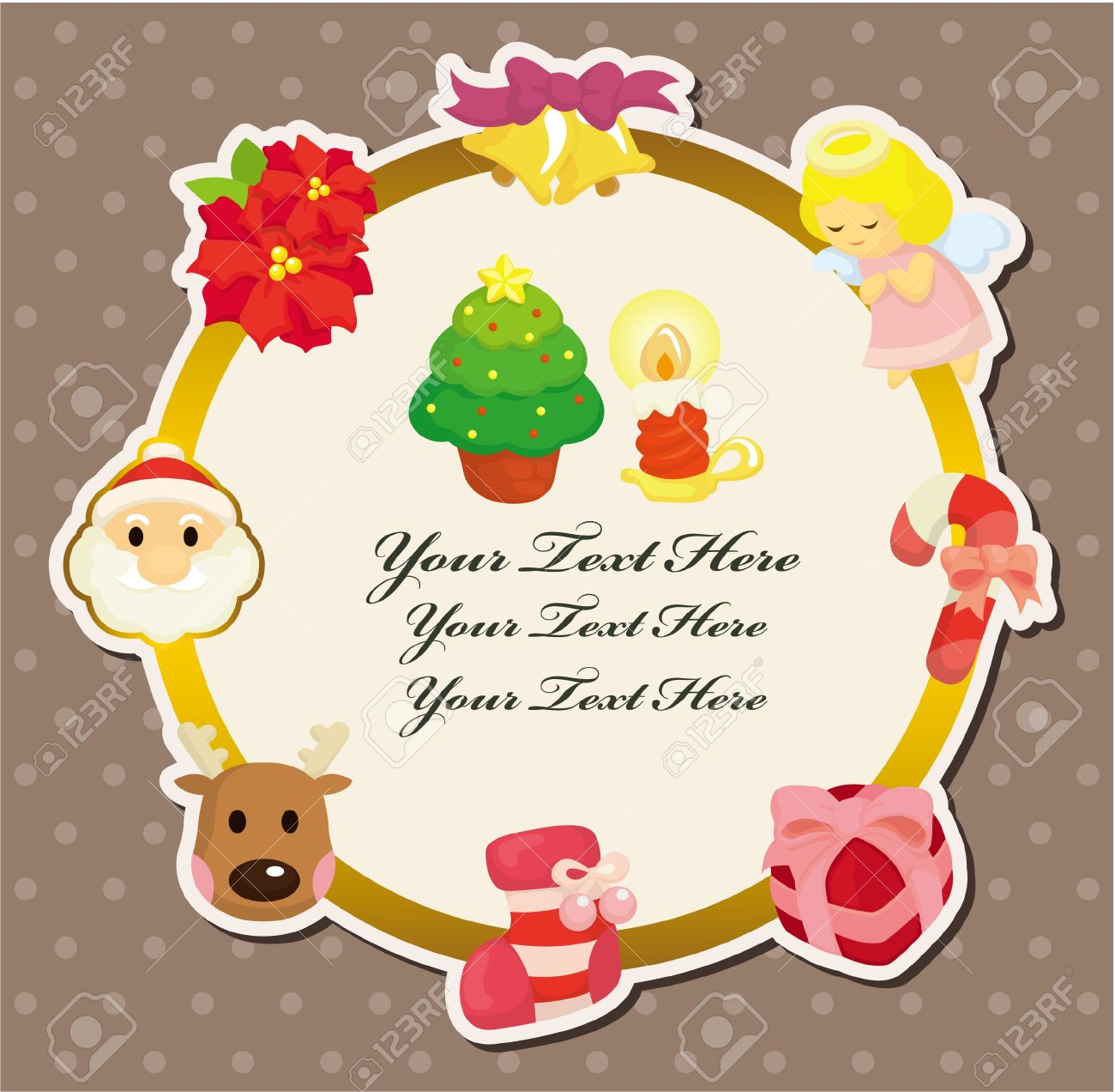 Cute christmas card royalty free cliparts vectors and stock cute christmas card m4hsunfo