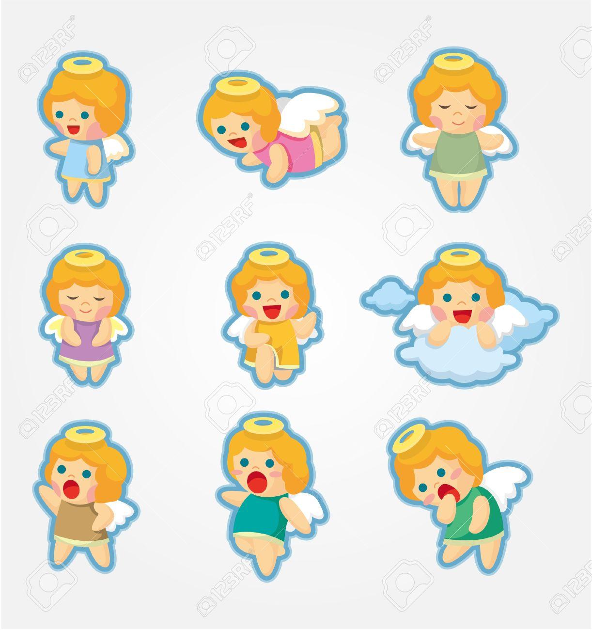 cartoon Angel icon set Stock Vector - 10325247