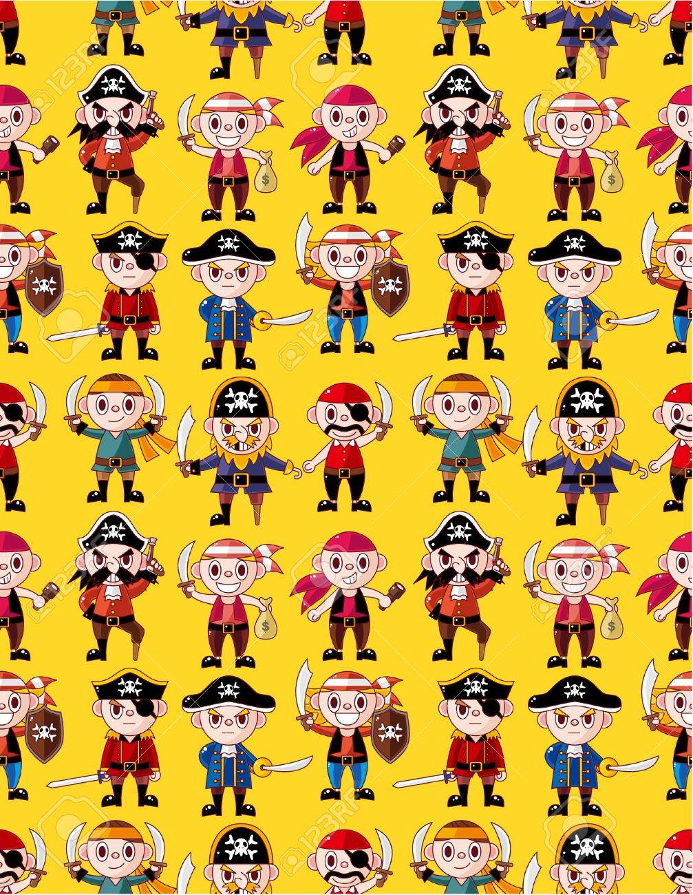 seamless pirate pattern Stock Vector - 10399962