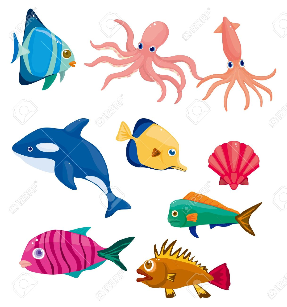 cartoon fish icon Stock Vector - 10482388