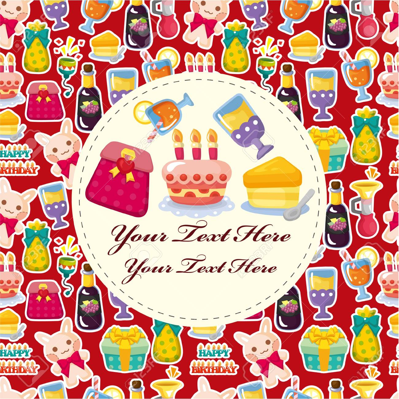 Cartoon birthday card Stock Vector - 10482394