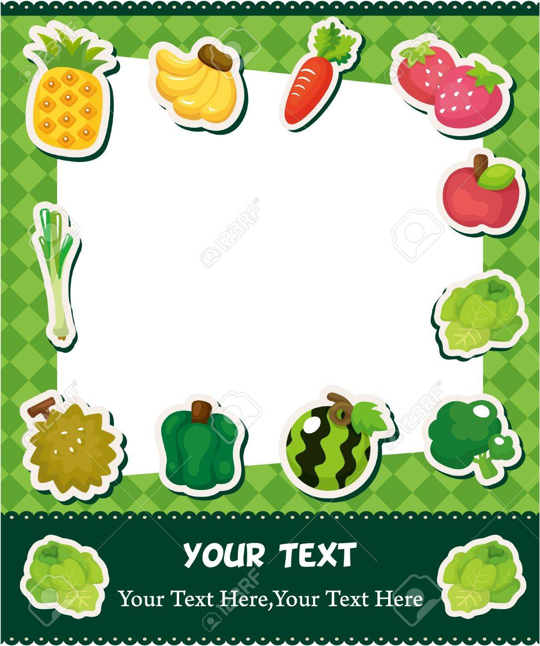 cartoon fruit card Stock Vector - 10506945