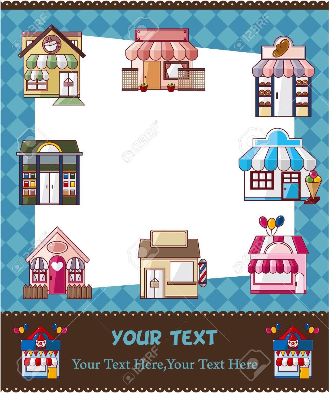 house / shop card Stock Vector - 10513082