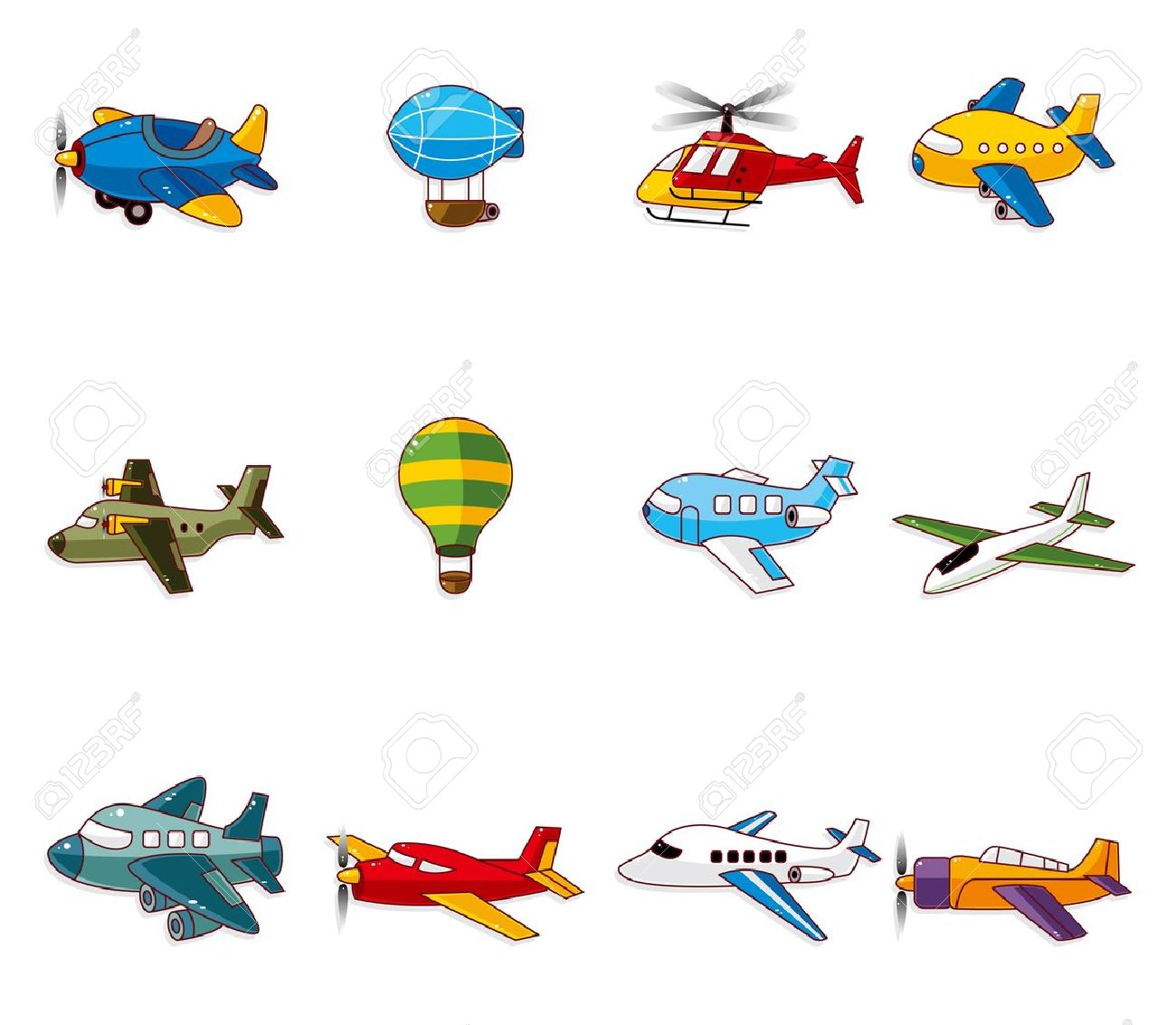 cartoon airplane icon Stock Vector - 10556479