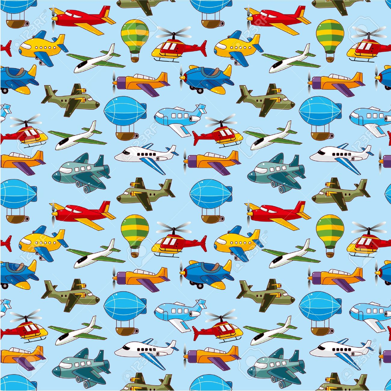 seamless airplane pattern Stock Vector - 10588900