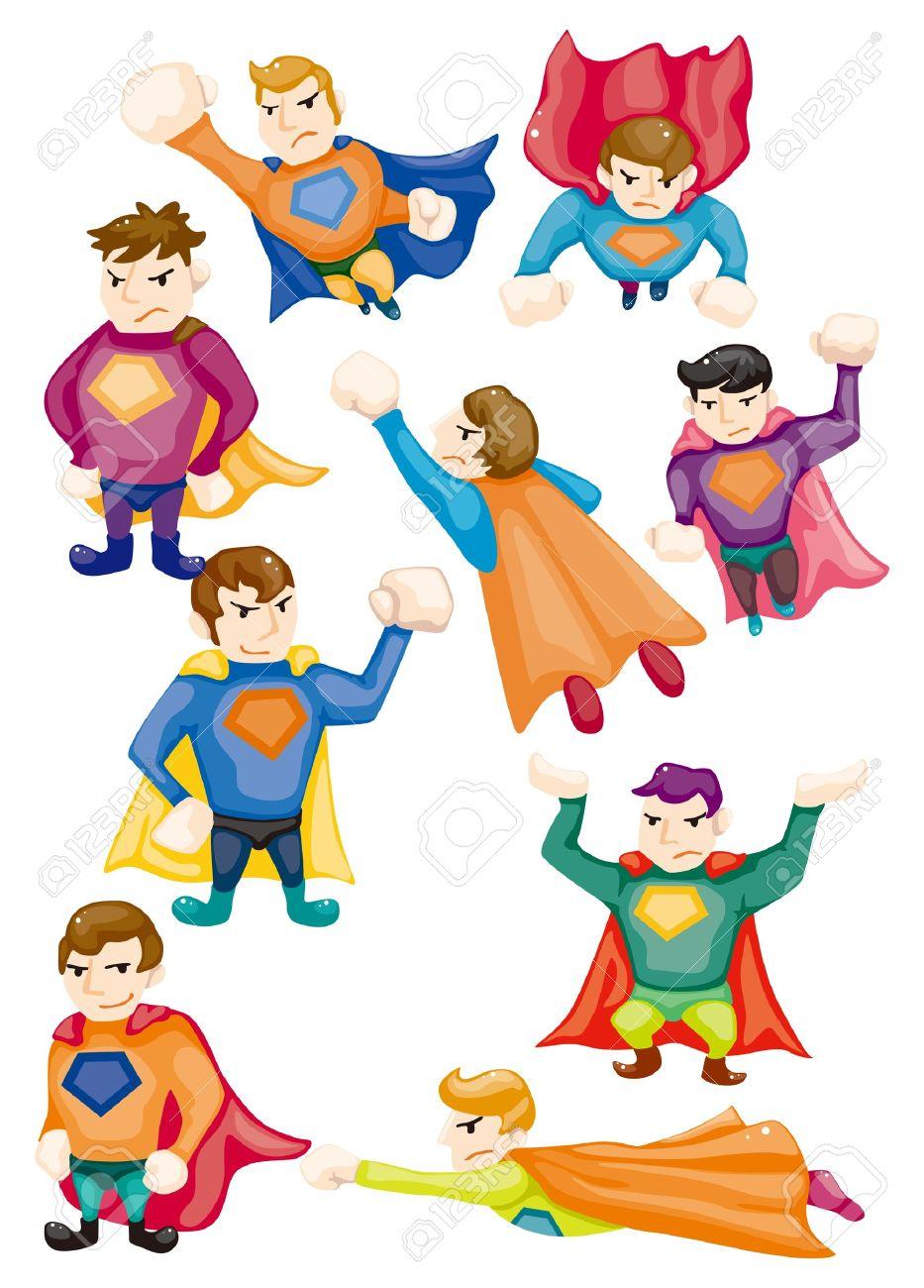cartoon superman icons Stock Vector - 10800308