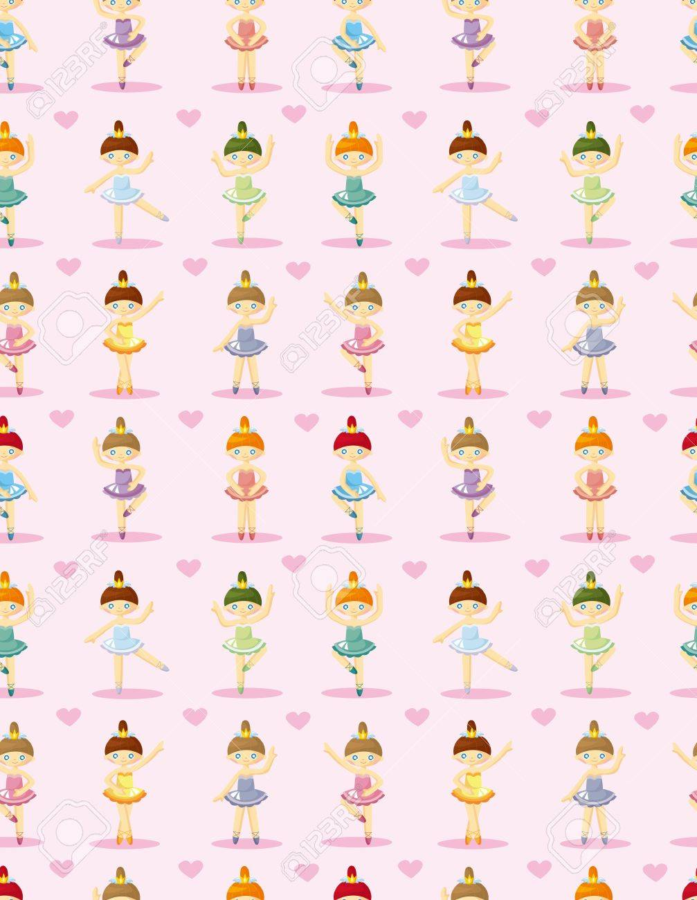 Seamless pattern of ballet dancers royalty free stock photography - Seamless Ballet Pattern Stock Vector 10925171