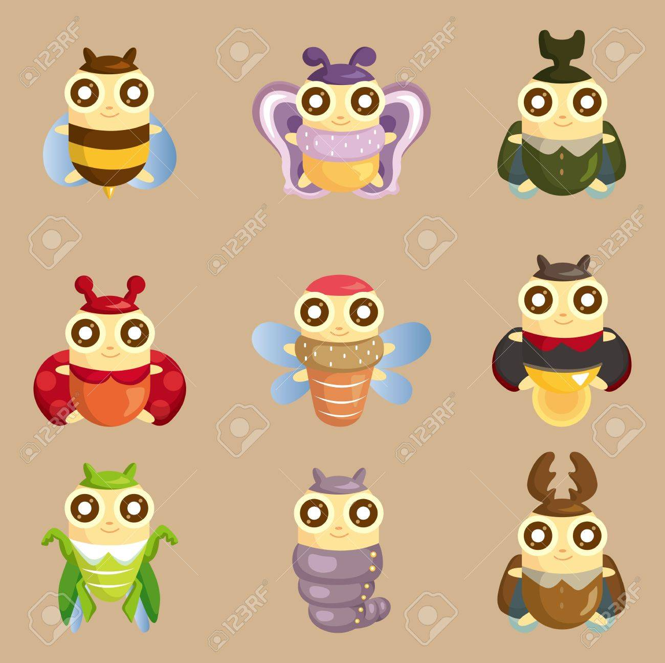 cartoon insect bug icon royalty free cliparts vectors and stock