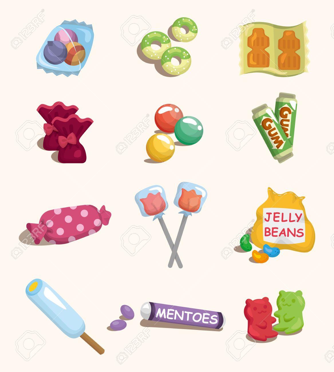 Icône Bonbons Dessin Animé
