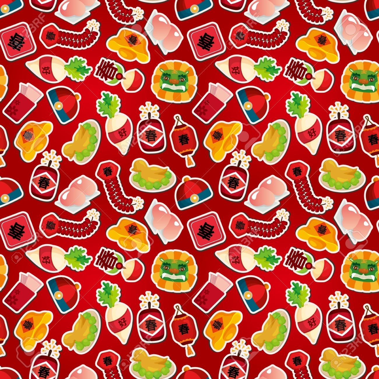 Chinese New Year seamless pattern Stock Vector - 11158406