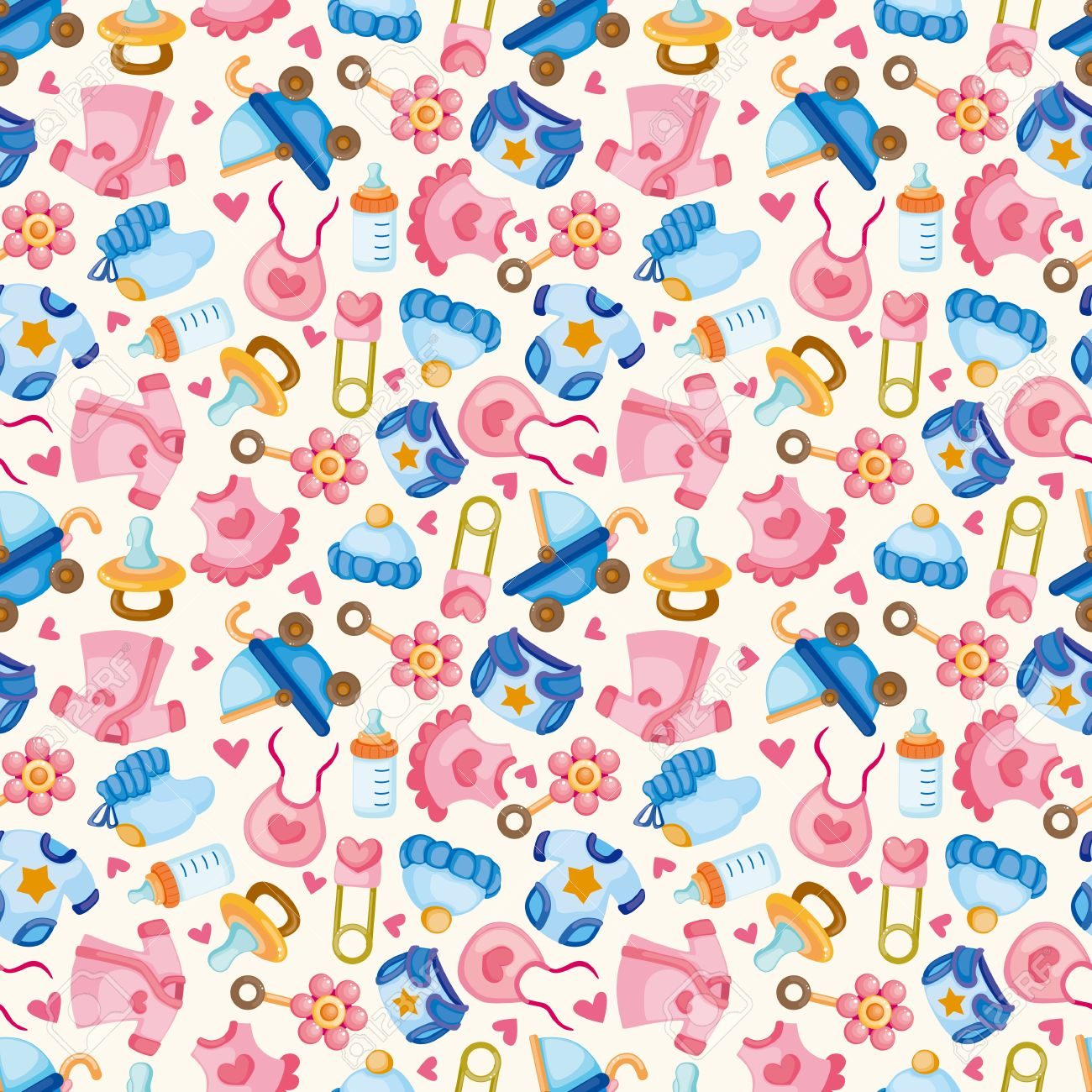 seamless baby toy pattern Stock Vector - 11224939