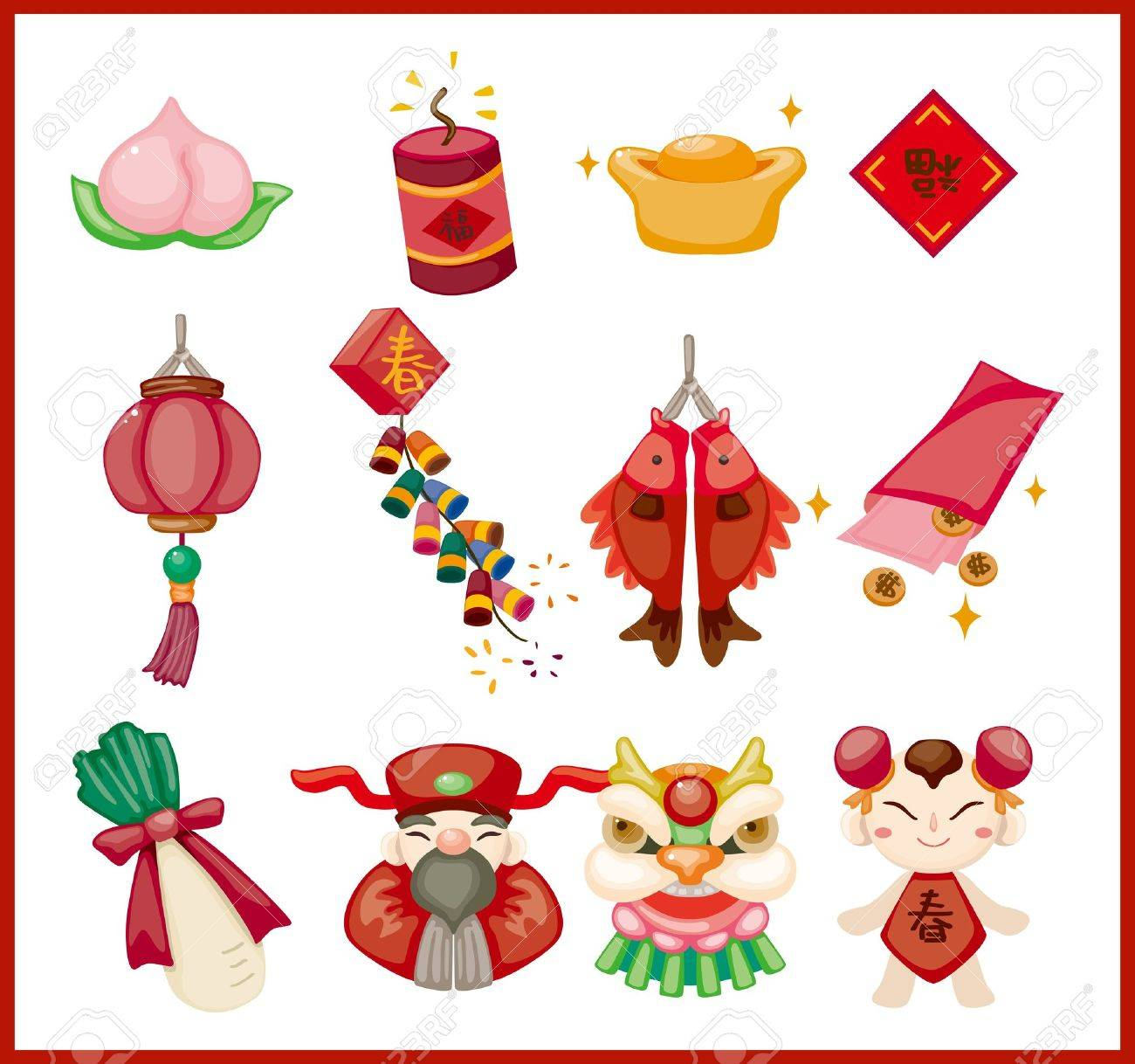 Chinese New Year decorative elements Stock Vector - 11233691