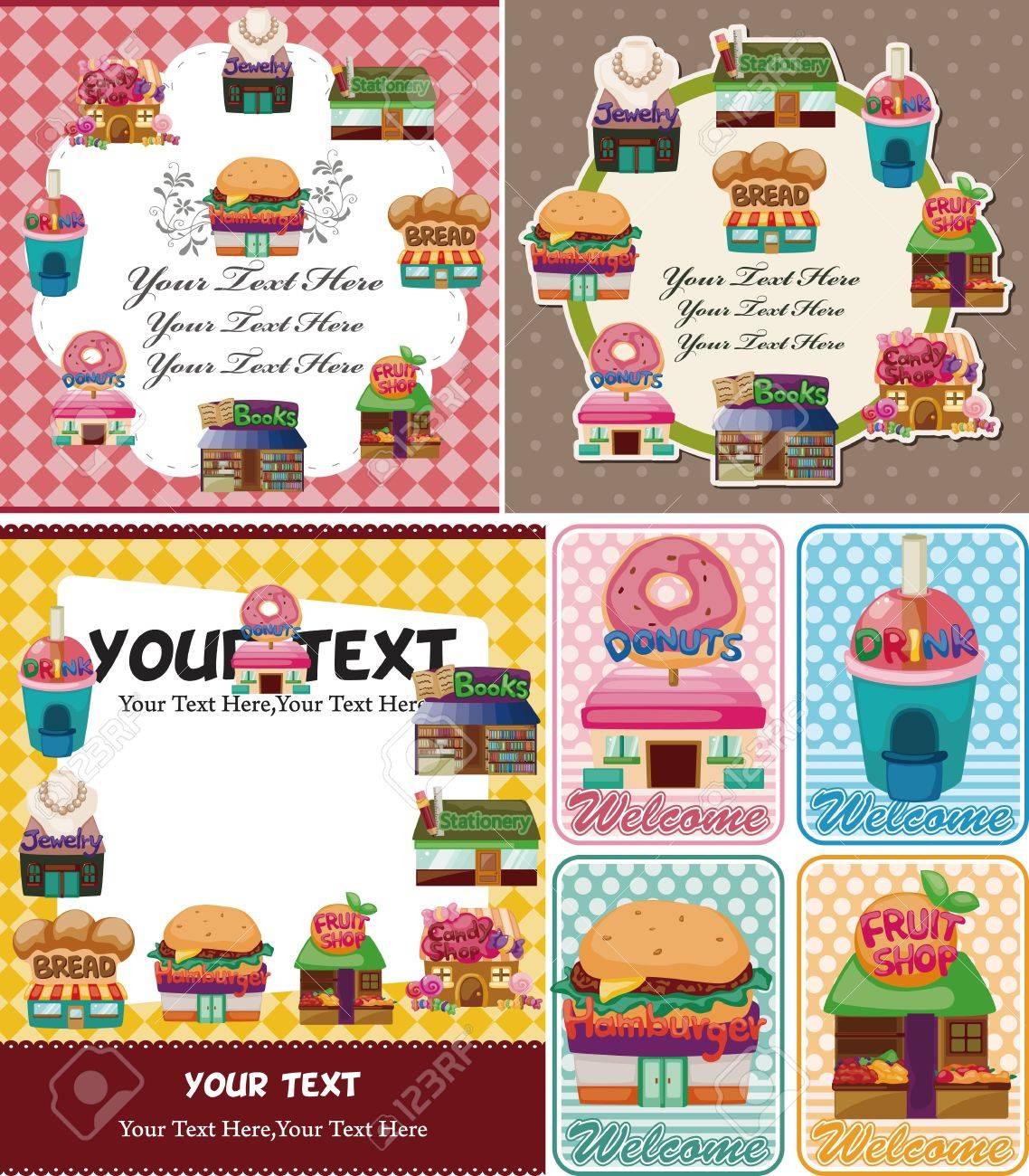 cartoon shop/house card Stock Vector - 11233705