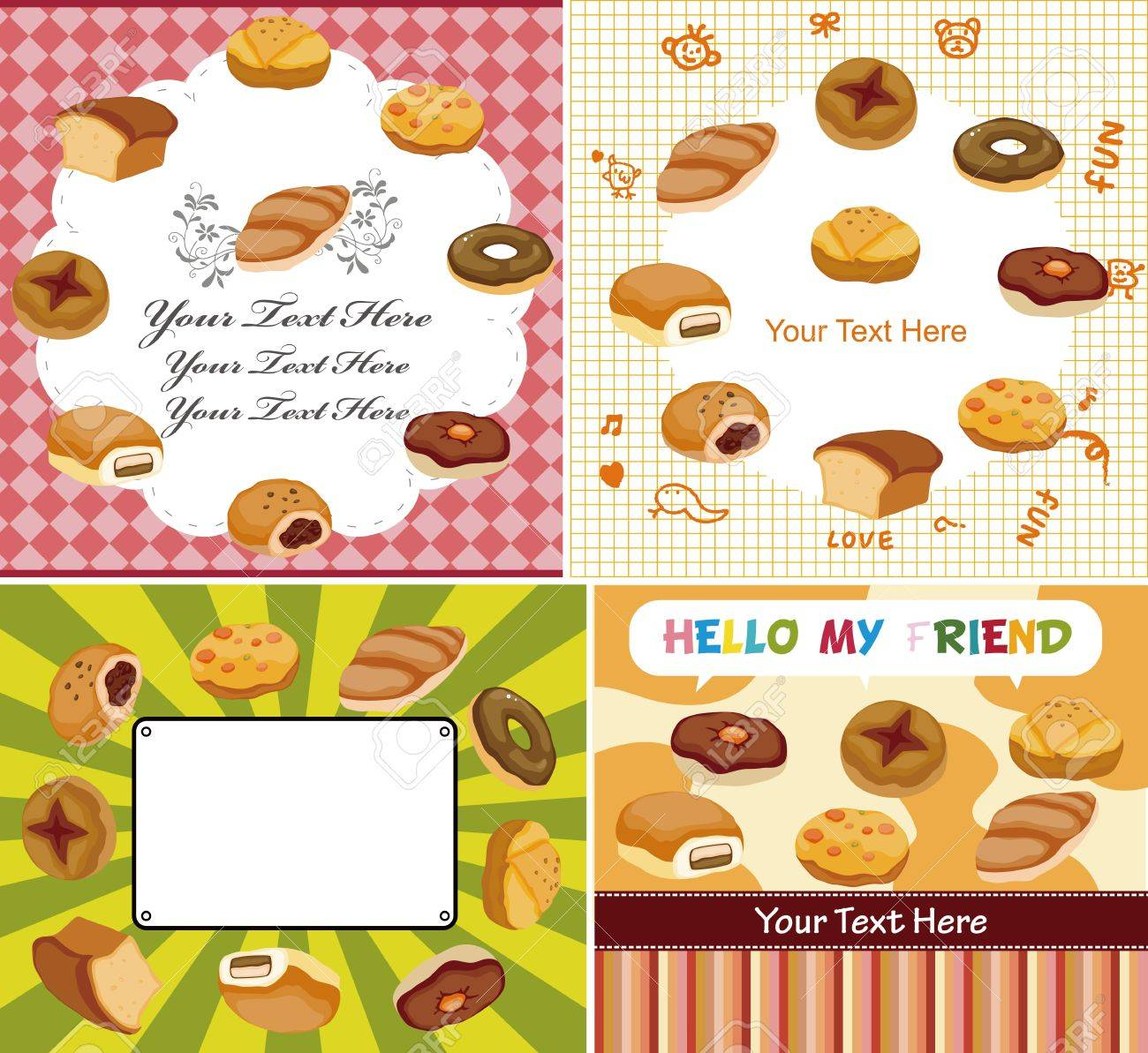 cartoon bread card Stock Vector - 11273174