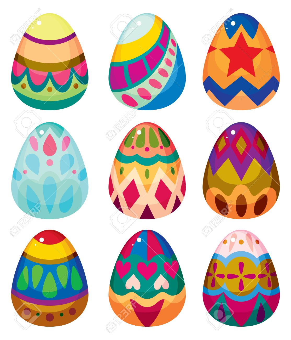 cartoon easter egg icon royalty free cliparts vectors and stock