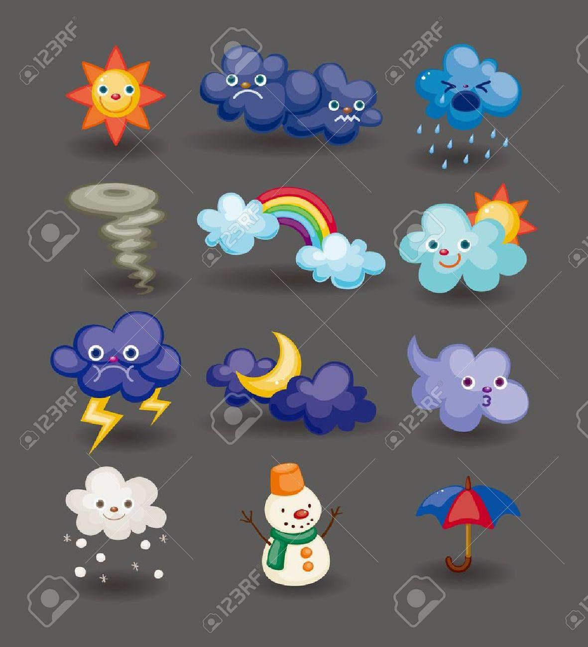 cartoon weather icon Stock Vector - 11383146