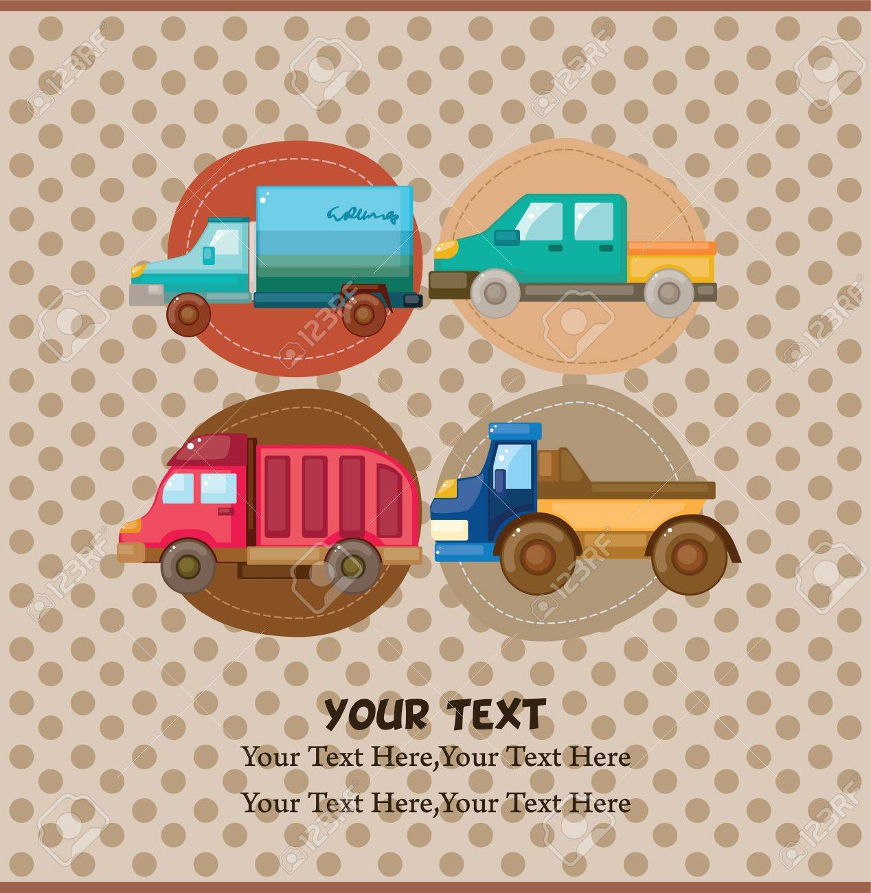 truck card Stock Vector - 11383174