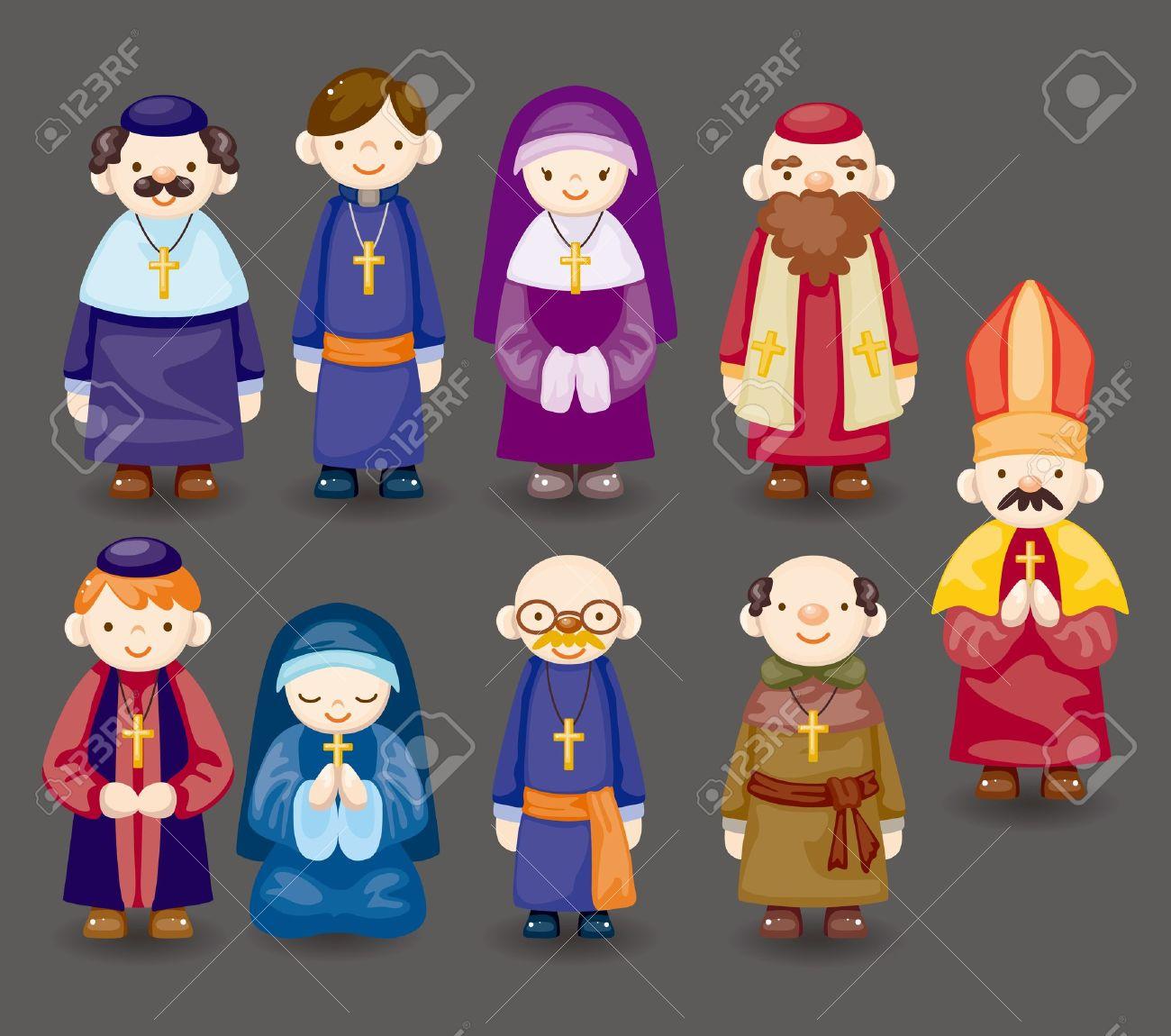 cartoon priest icon Stock Vector - 11529463