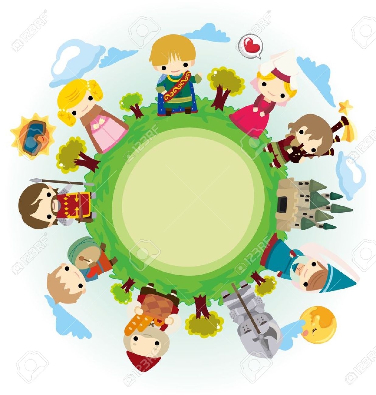 cartoon Medieval people around world Stock Vector - 11810397