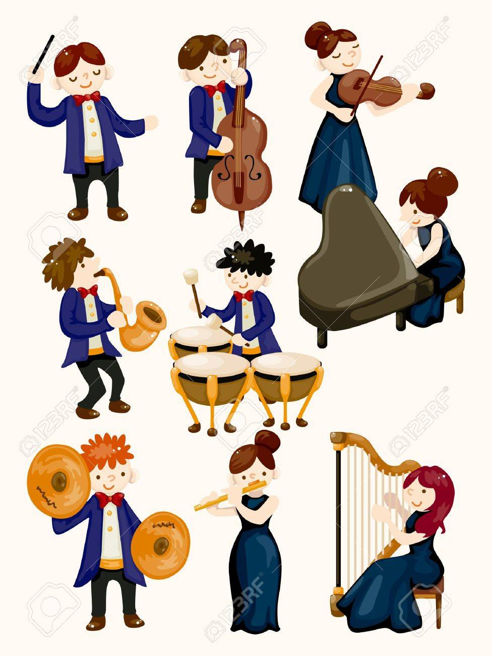 orchestra music player Stock Vector - 11810410