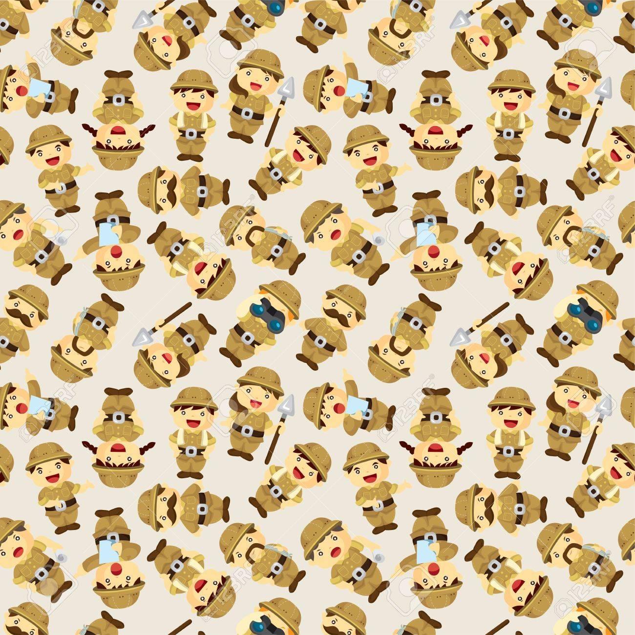 Adventurer people seamless pattern Stock Vector - 12236632