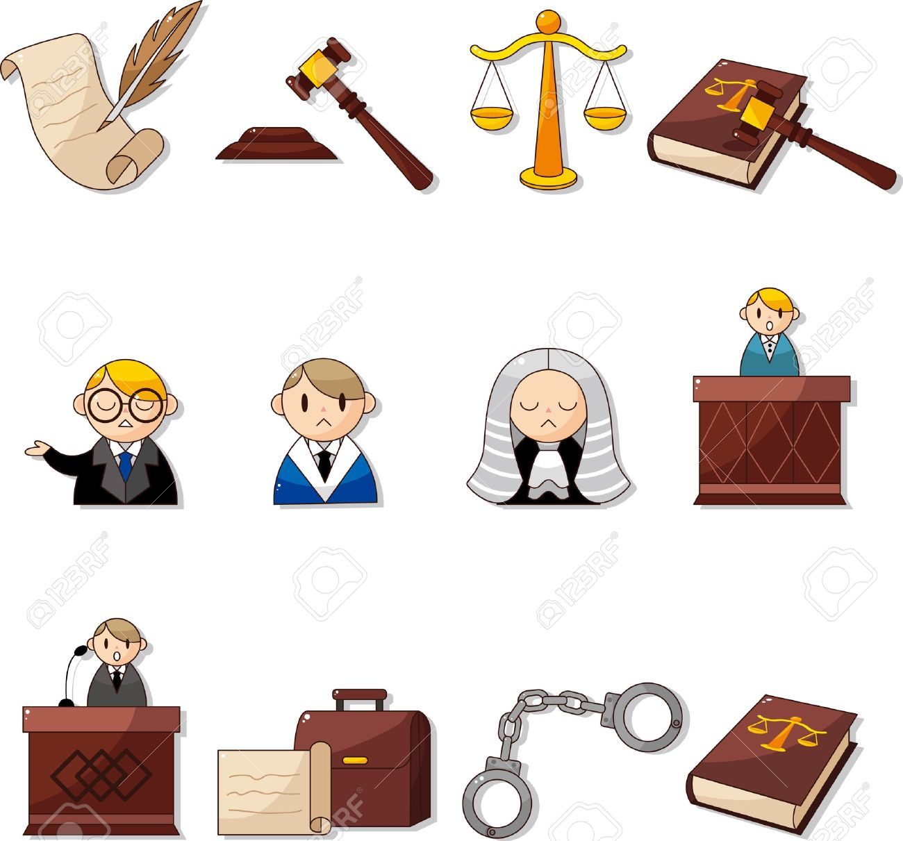 law icons Stock Vector - 12371440