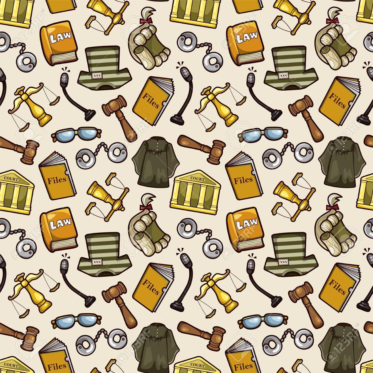 law seamless pattern Stock Vector - 12487941