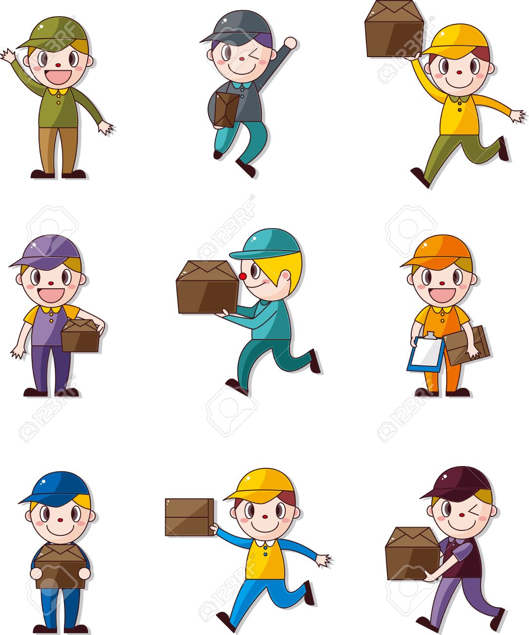 Express delivery people Stock Vector - 12646213