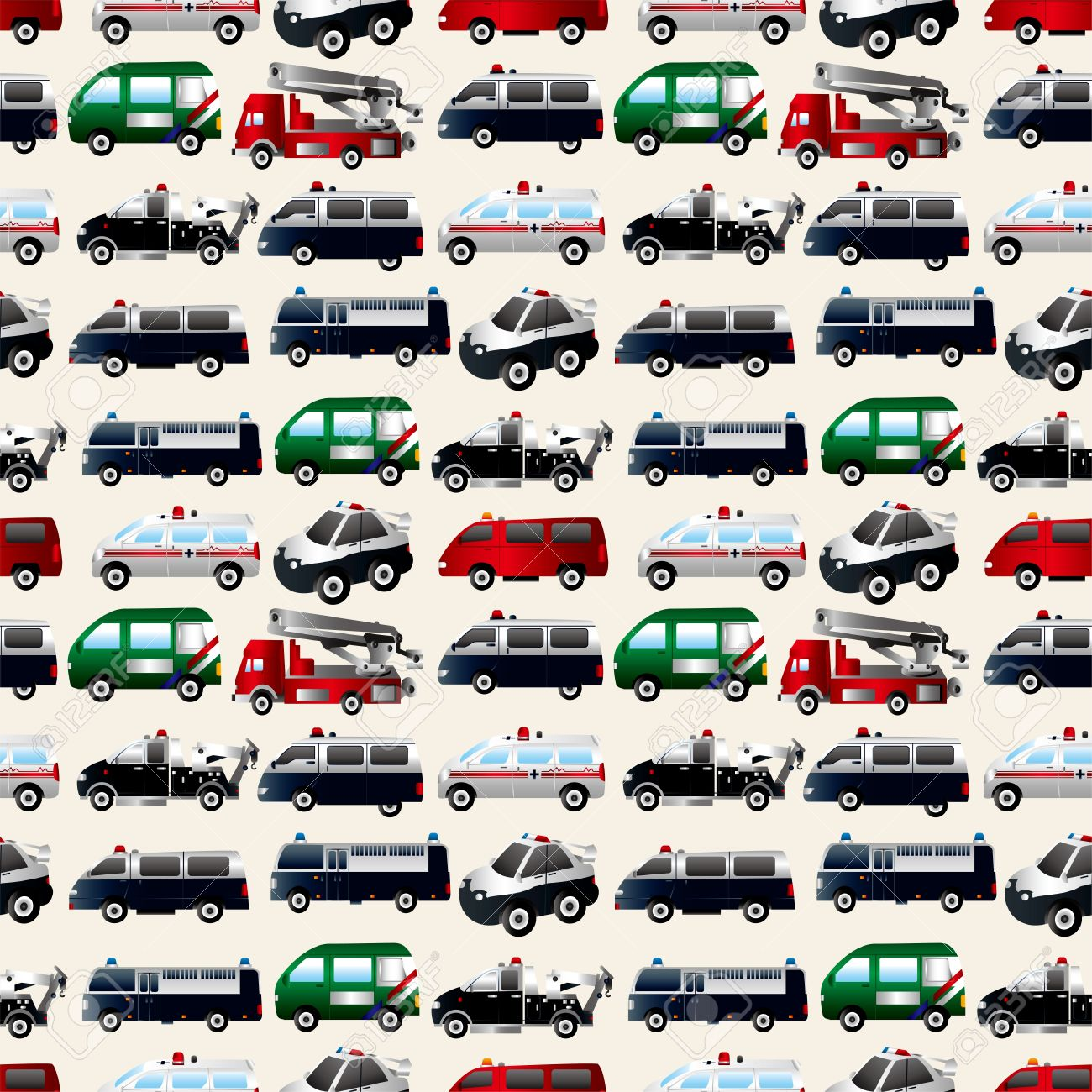different types car seamless pattern royalty free cliparts vectors