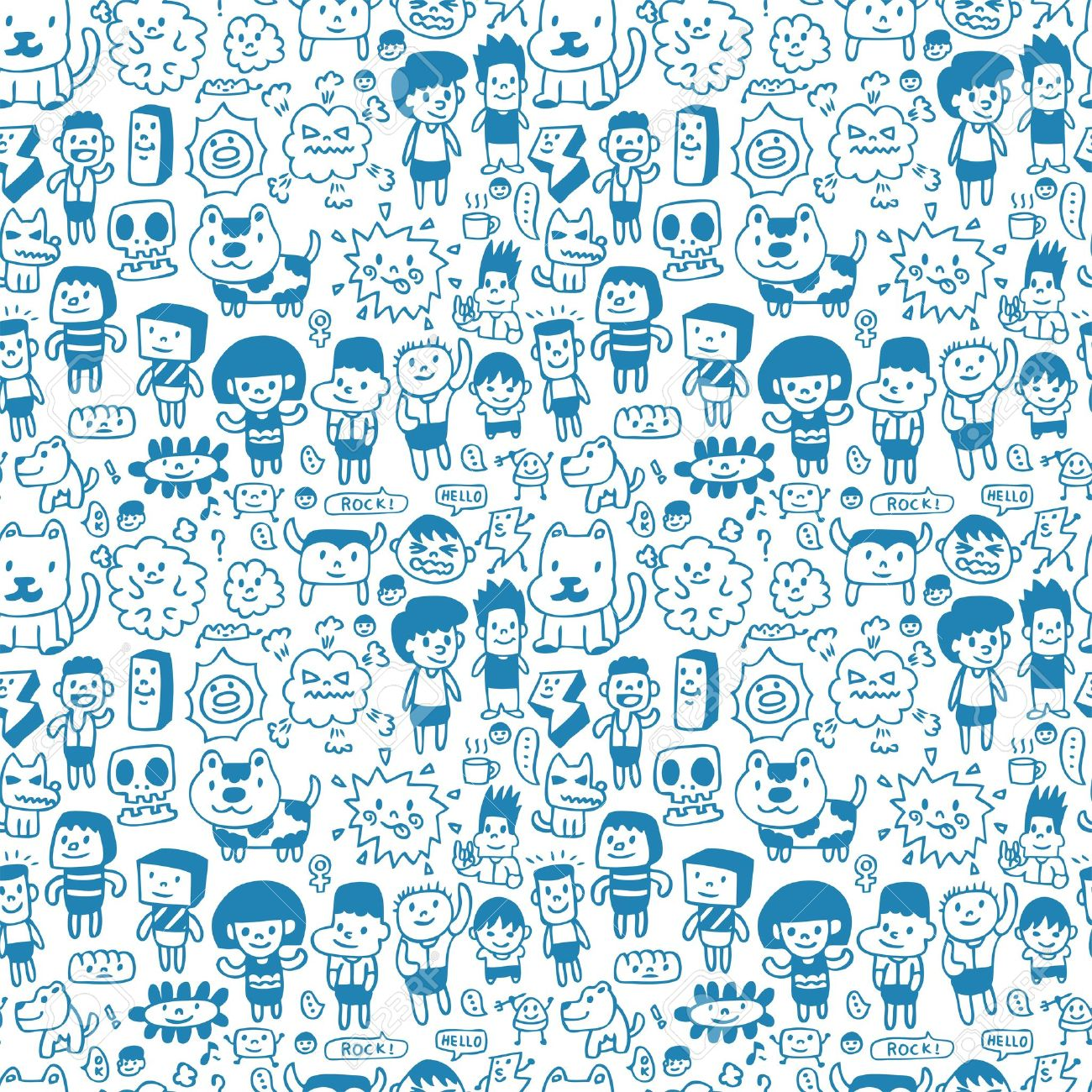 seamless cartoon pattern royalty free cliparts vectors and stock