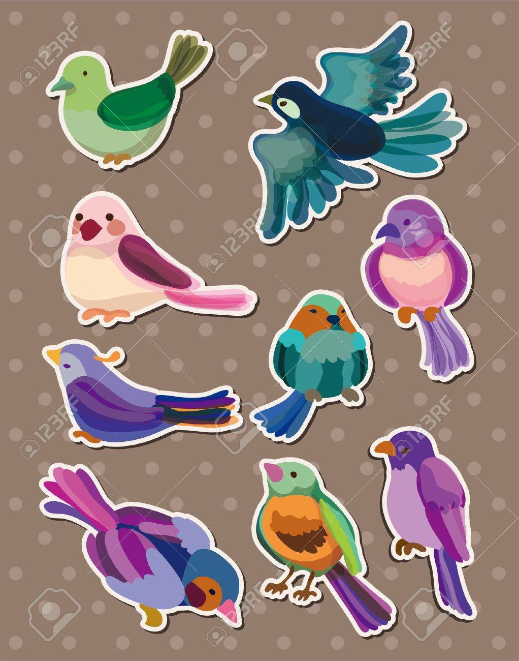 bird stickers Stock Vector - 13122077