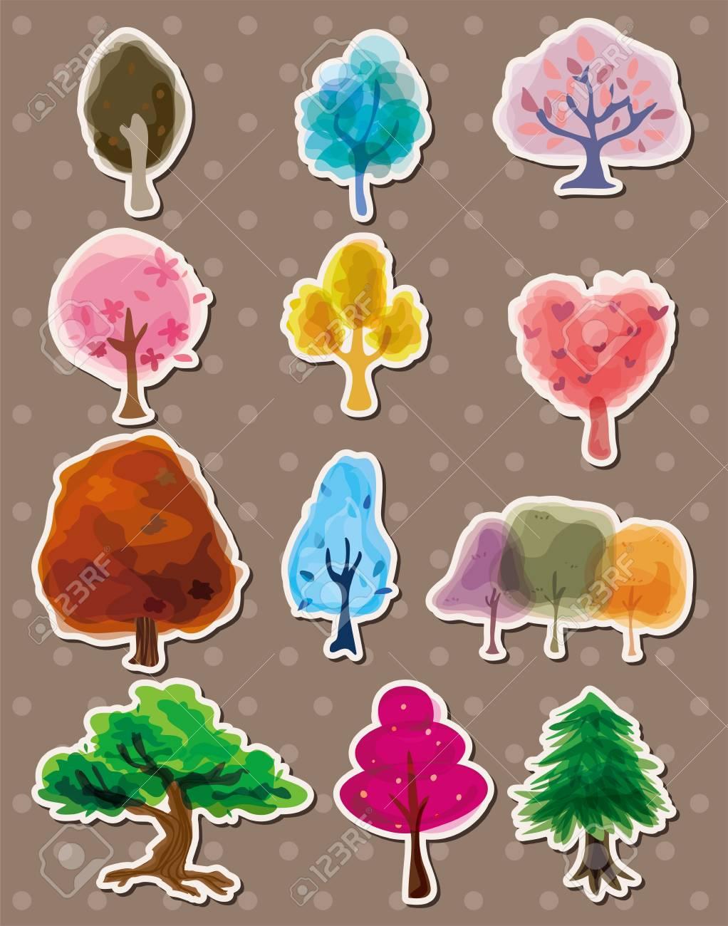tree stickers Stock Vector - 13122083
