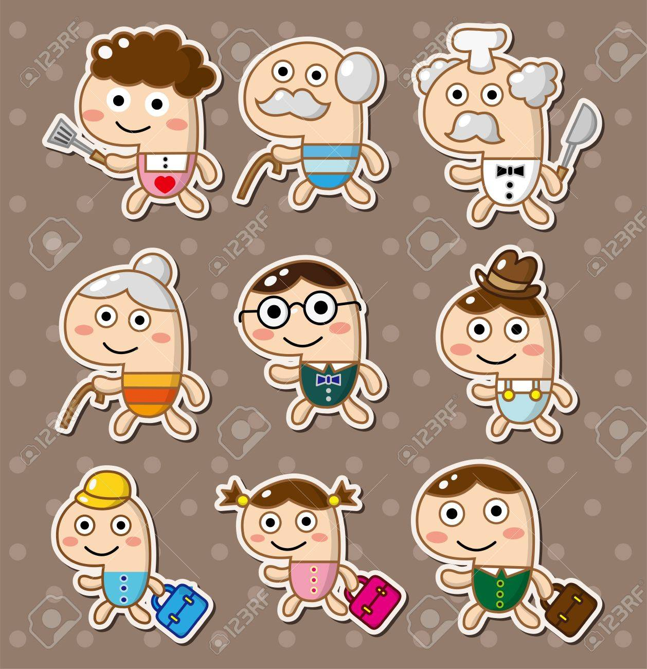 family stickers Stock Vector - 13150101