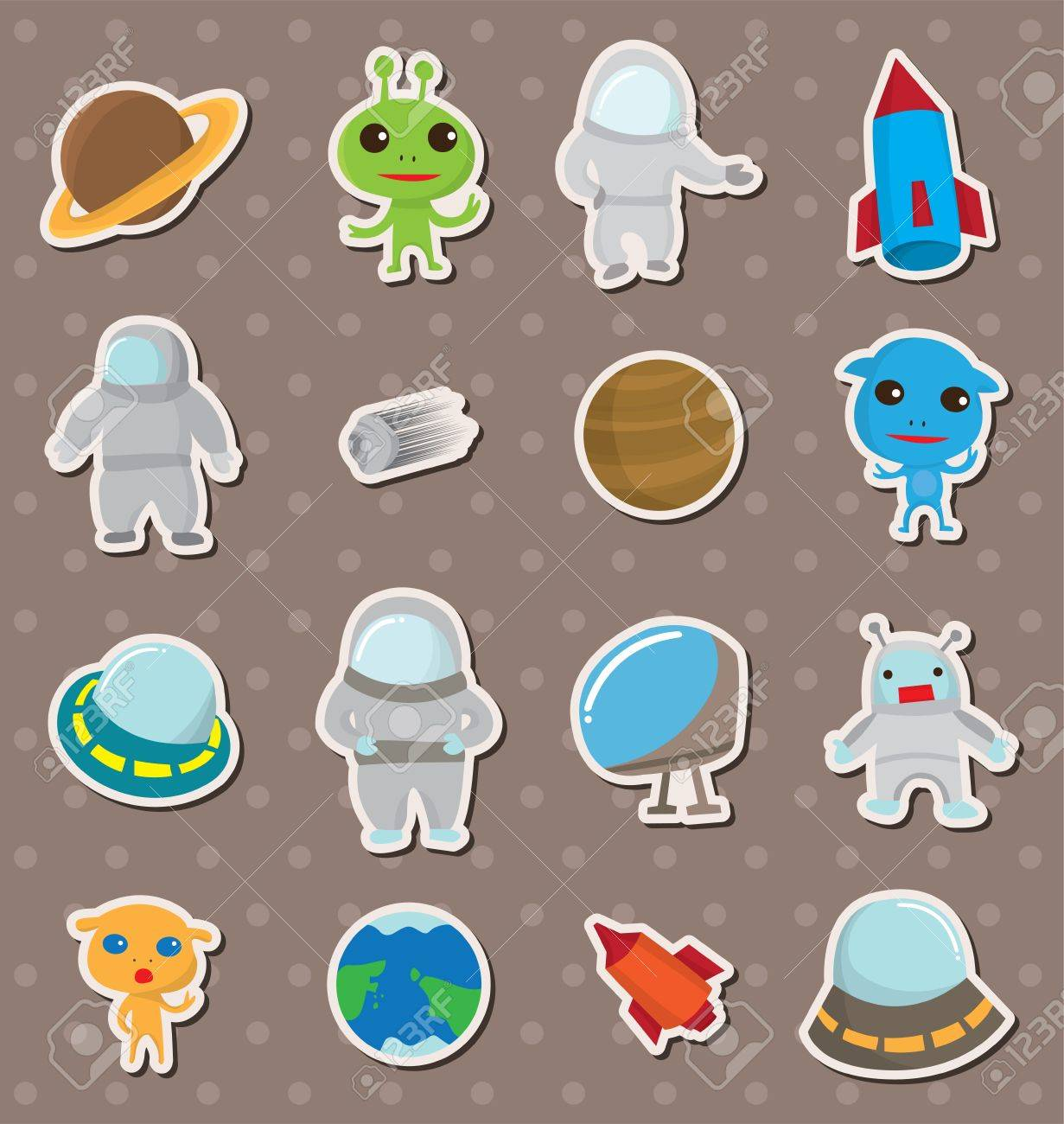 space stickers Stock Vector - 13397491