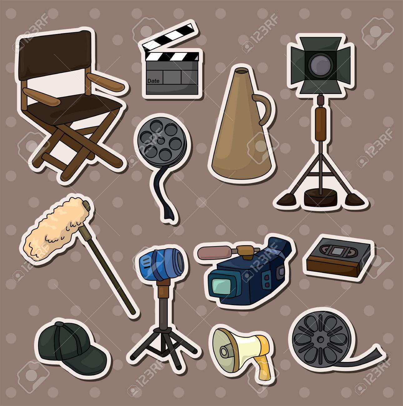 movie tool stickers Stock Vector - 13706287