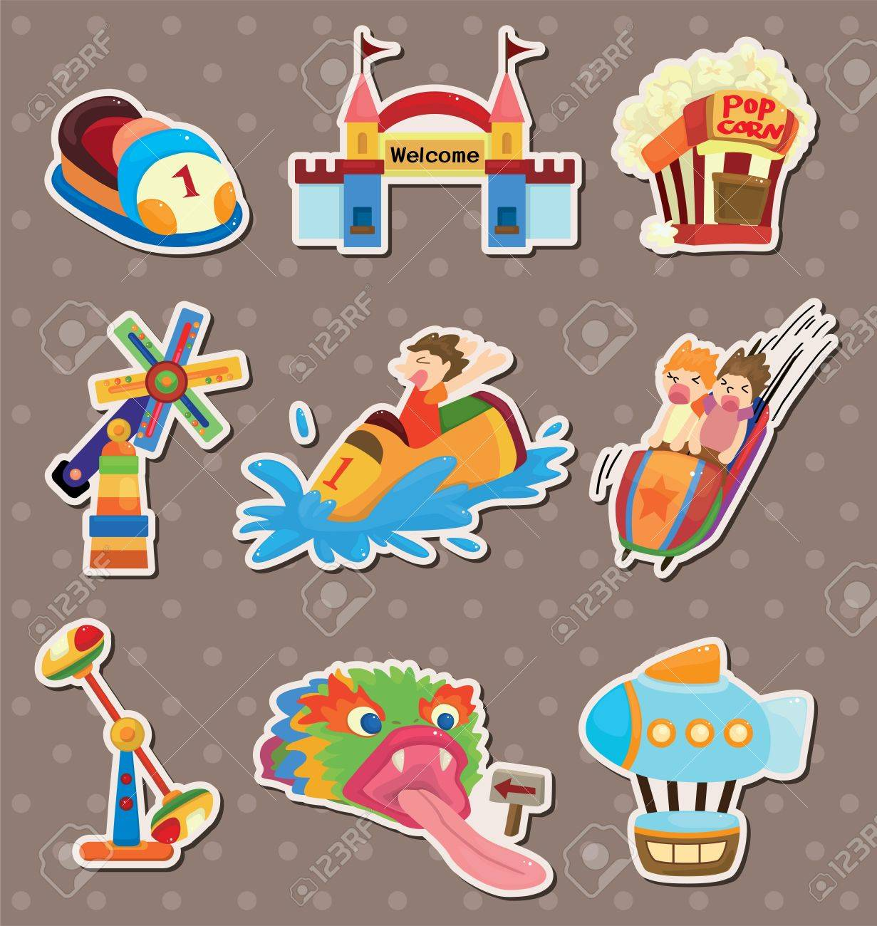 playground stickers Stock Vector - 13885602