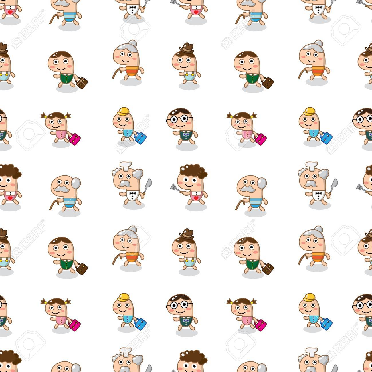 seamless family pattern Stock Vector - 14596460