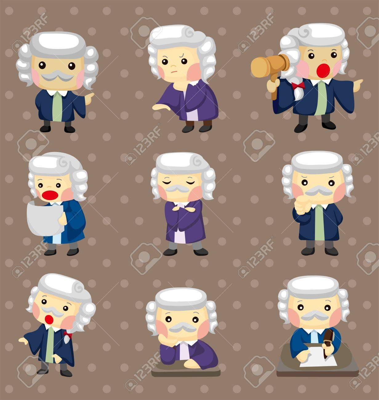 cartoon Judge stickers Stock Vector - 14731117