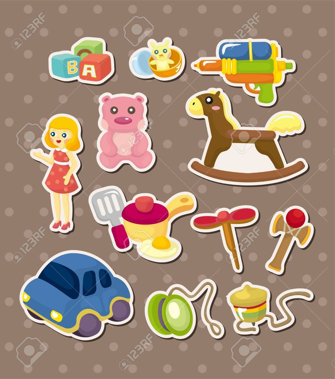 toy stickers Stock Vector - 14731173