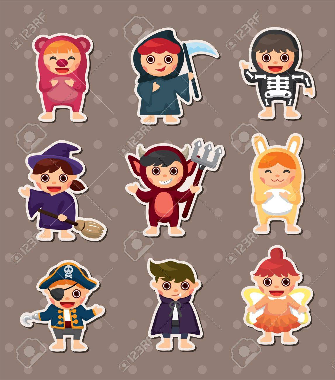 Halloween Costume Party Royalty Free Cliparts, Vectors, And Stock ...